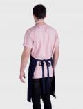 Delantal azul de camarero espalda