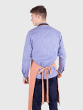Orange waiter apron back