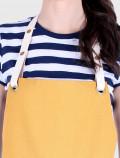 Yellow bakery apron detail