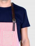 Stripes red apron detail