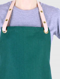 Florist's apron with leather