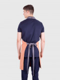 Peach waiter apron back