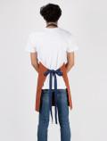 Orange waiter´s apron back