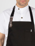 Chef black aprons detail