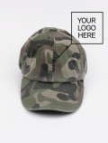 Camo cap with logo