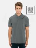 Polo Gris Hombre para uniforme de hostelería con logo
