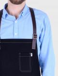 Bartender black apron back harness detail