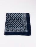 Blue bandana scarf