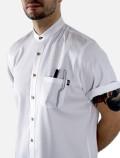 White chef's shirt detail