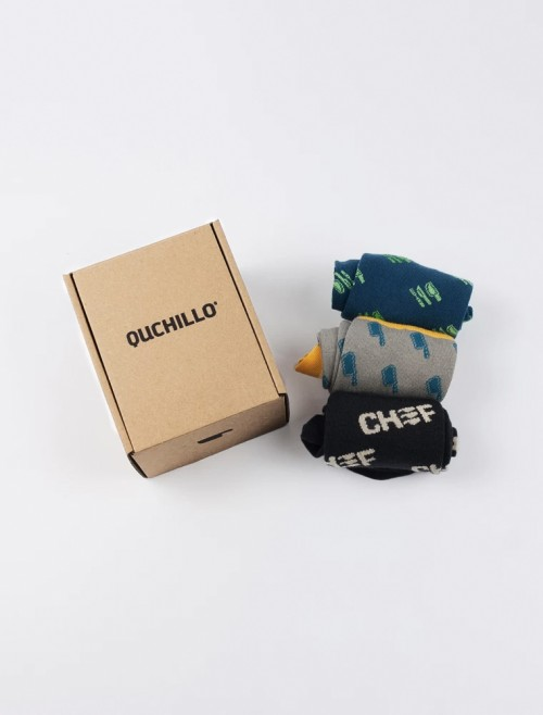 3-Pack Chef Socks