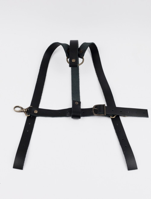 Black Leather Y-Shaped Harness
