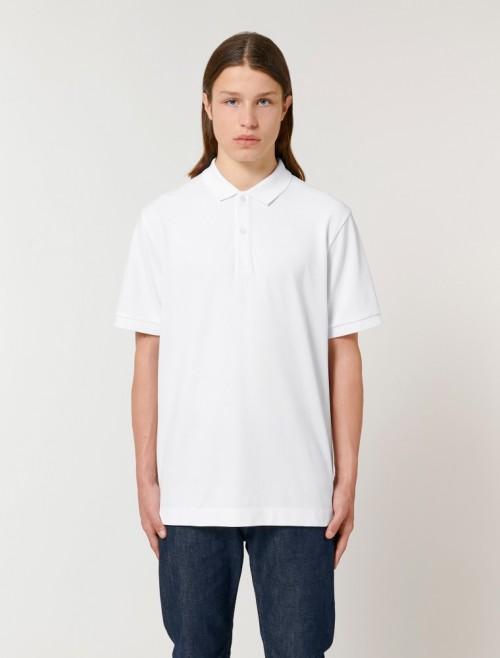 Unisex White MC Polo