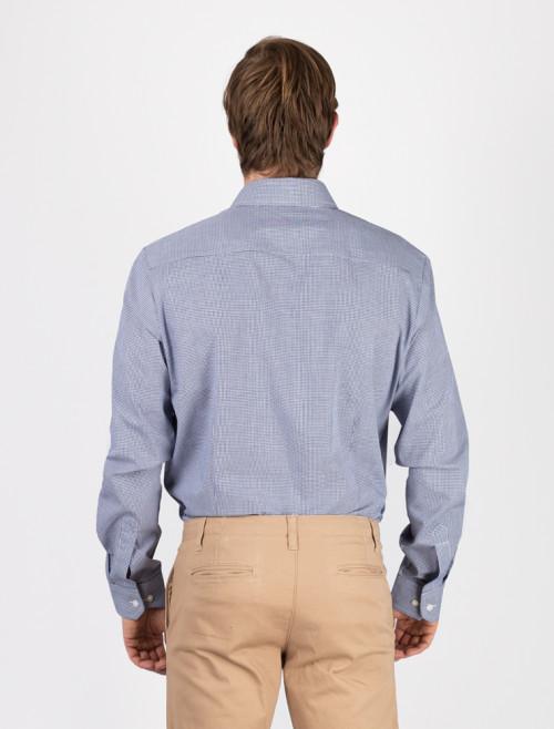 Camisa Check Azul Hombre