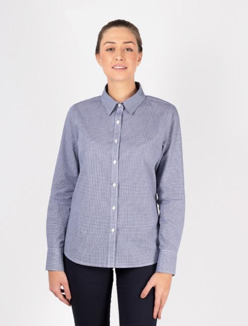 Camisa Check Azul Mujer