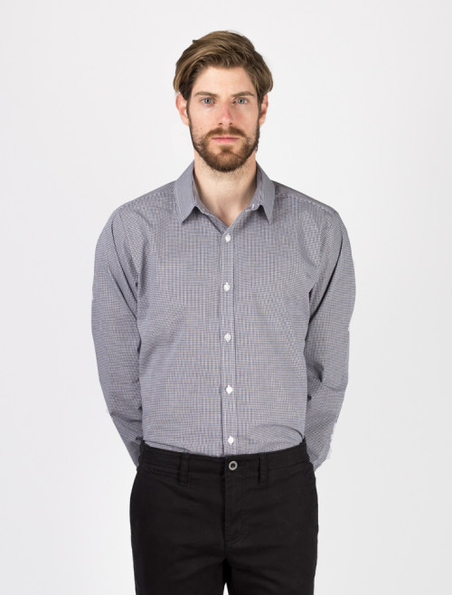 Men's Black Check Shirt