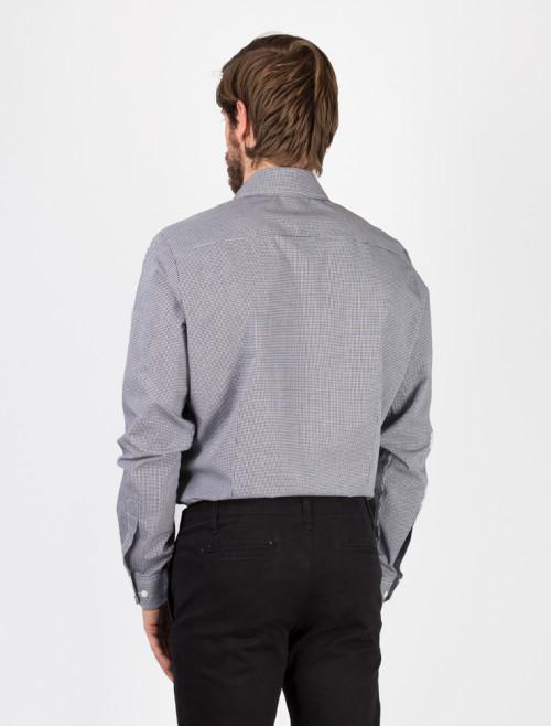 Camisa Check Negra Hombre