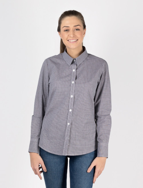 Women's Black Check Shirt
