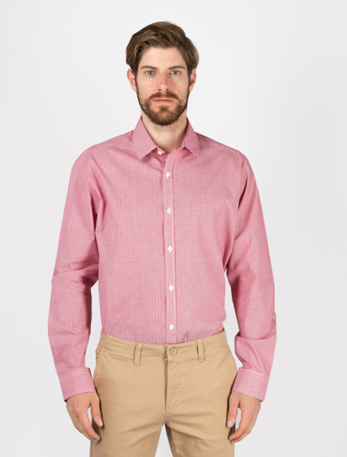 Camisa Check Roja Hombre