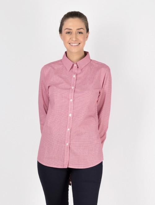 Camisa Check Roja Mujer