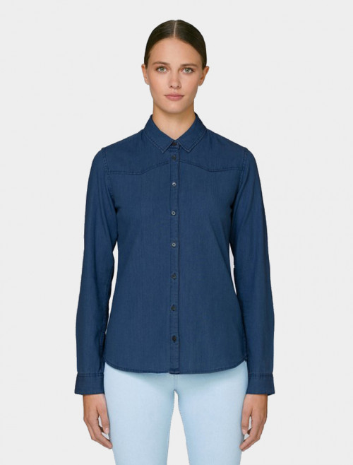 Women's Dark Denim Shirt