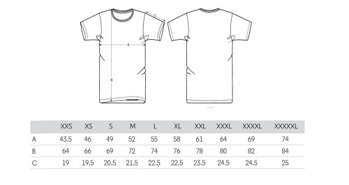 Sizing Men's White T-Shirt
