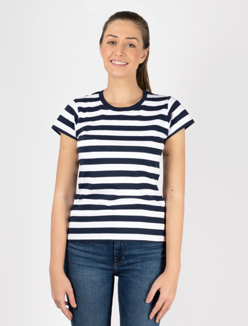 Women's Blue Stripe T-Shirt