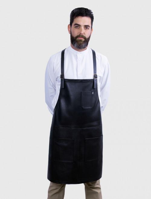 Delantal Bartender de Piel Negra
