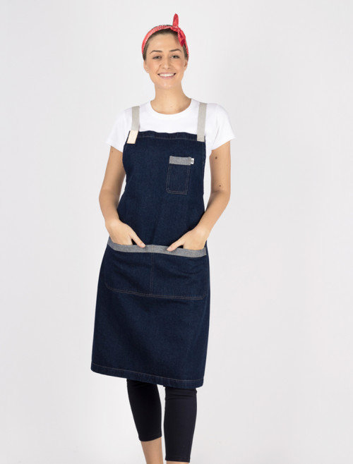 Denim Blues Apron