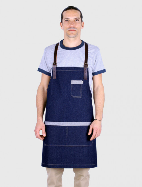 Mao Denim Blue Apron