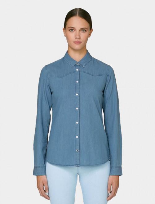 Camisa Denim Light Mujer