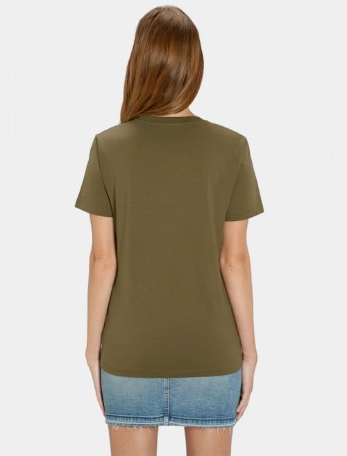 Camiseta Kaki Mujer