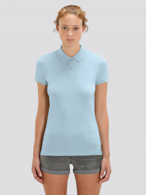 Women's Sky Blue Polo