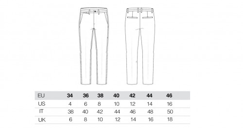 Sizing Women's Blue Chino Trousers