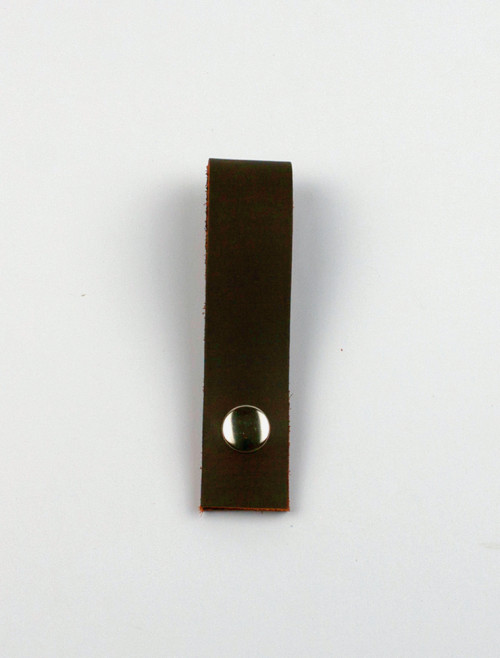 Brown leather clip