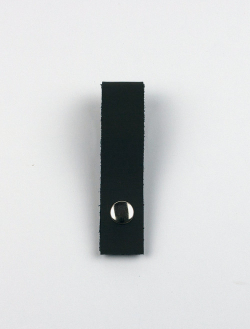 Black leather clip