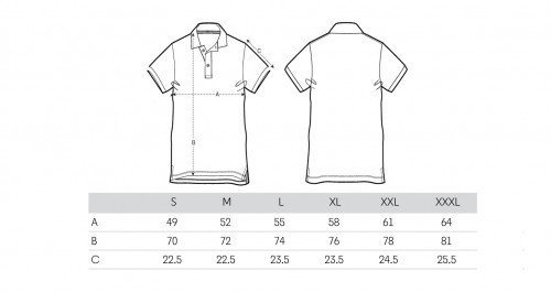 Sizing Men's White Polo