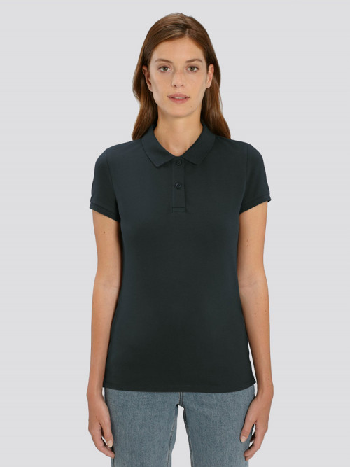 Women's Black Polo