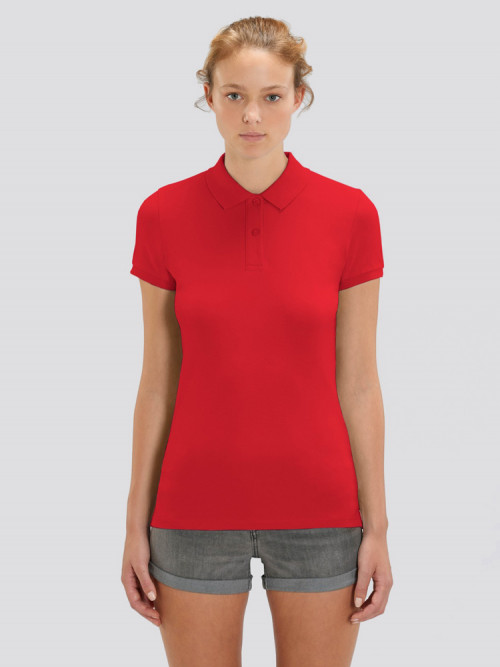 Women's Red Polo
