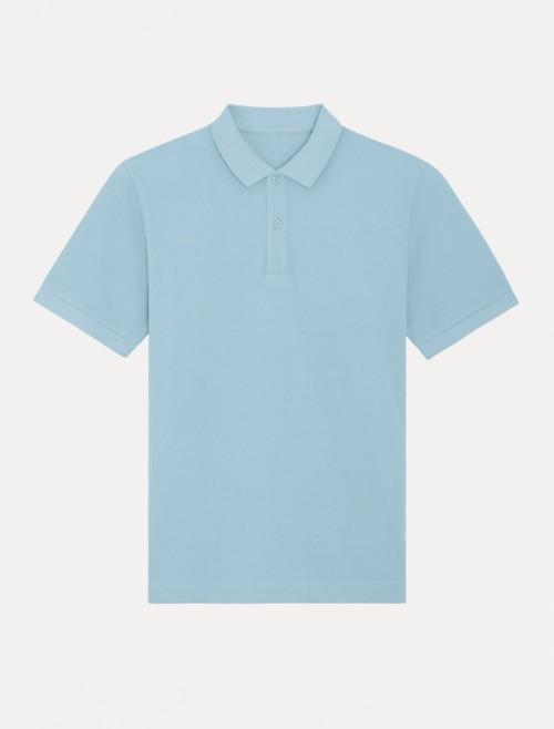 Unisex Sky blue MC Polo