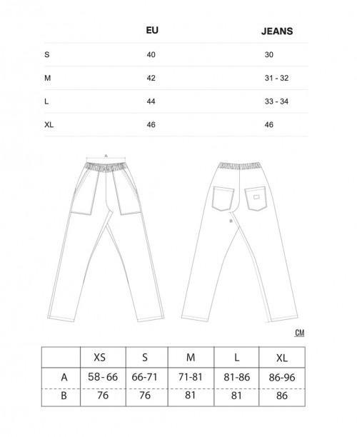 Sizing Pantaloni Originali da Chef - Marroni
