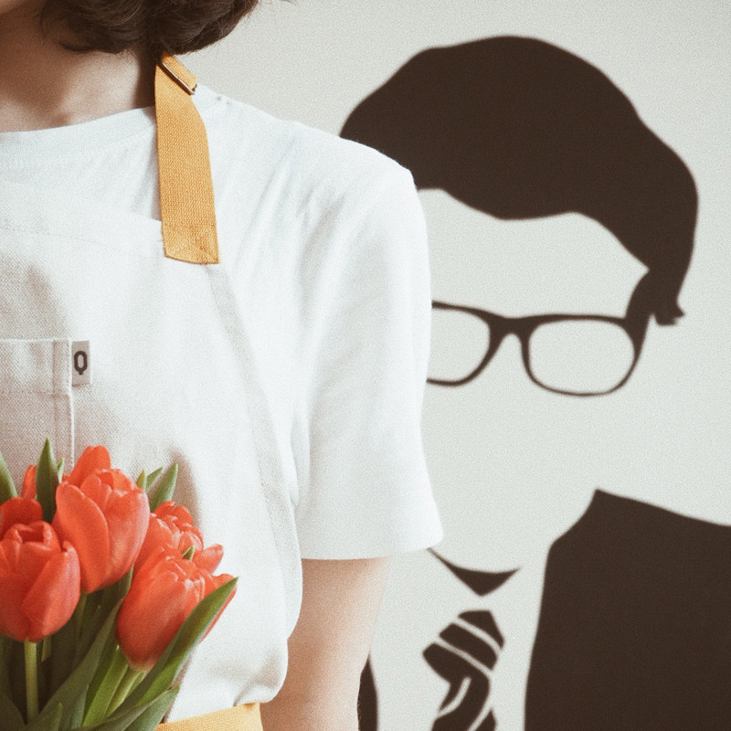Interview: Illustrator Coco Dávez wears our apron