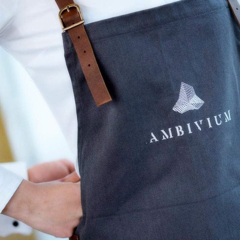 Custom aprons for Ambivium Restaurant at Pago de Carraovejas